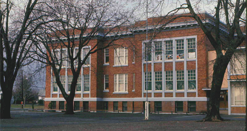 Oaklands Elementary school in Victoria, BC