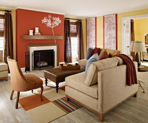 Fall color schemes that fit every home alair homes for Fall colors living room ideas